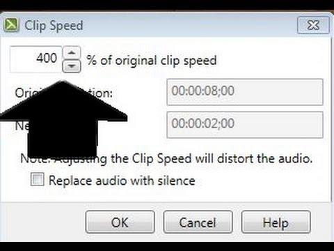 Adjust clip speed in Camtasia Studi