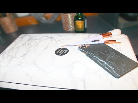DIY Marble Laptop Cover (Non-Macbook) ll AmirahLee