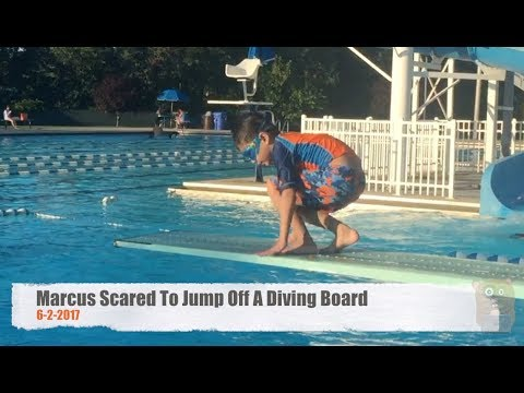 Marcus Too Scared To Jump Off A Diving Board