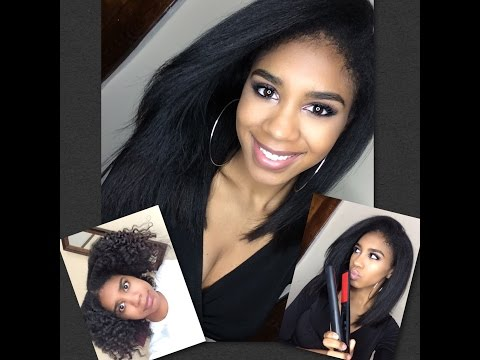 How To: Make Flat Ironed Natural Hair last Longer! Plus Workout Styling Tips!