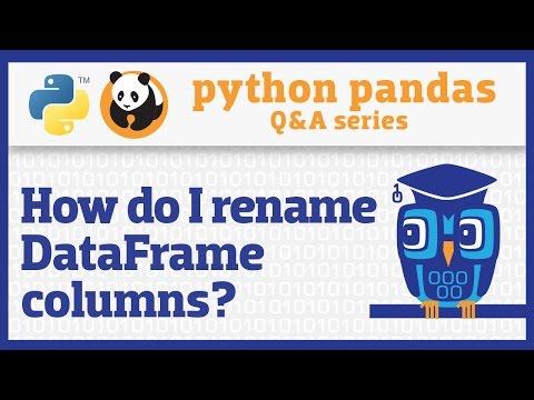 How do I rename columns in a pandas DataFrame?
