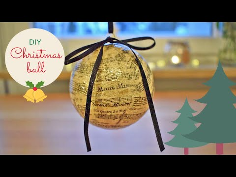 DIY - How To Make Decoupage Christmas Ball Ornament