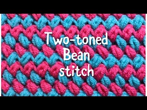 Multicolor Bean Stitch fast and easy crochet stitch #73