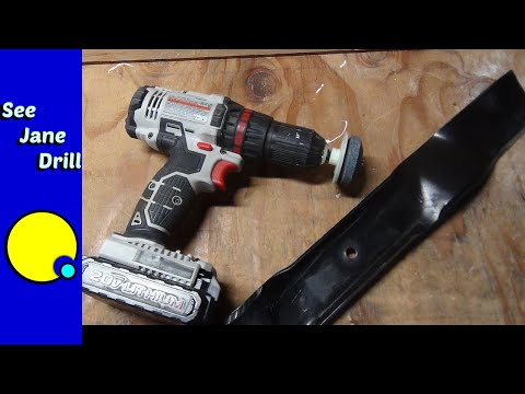 How to Sharpen a Lawnmower Blade with a Drill
