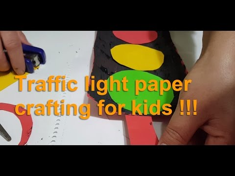 Traffic light paper crafting for kids !!!