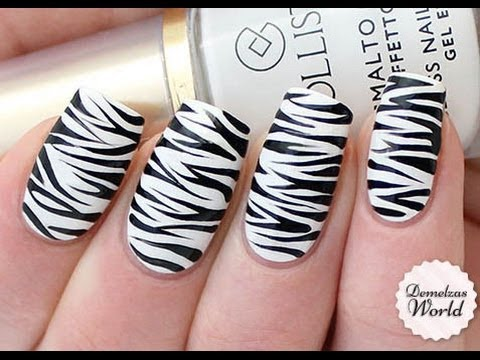 Zebra Print Nail Art Tutorial