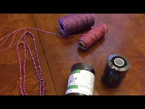 Types of twine for hand knotted rosaries