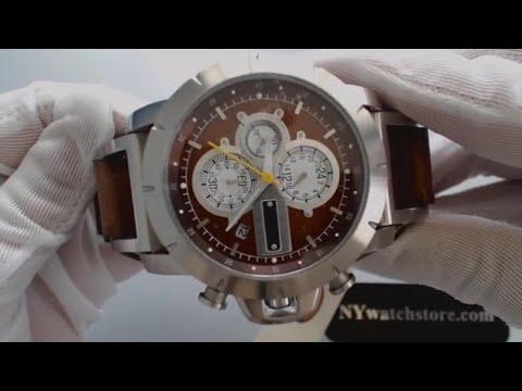 Men's Fossil Jake Chronograph Leather Strap Watch JR1157