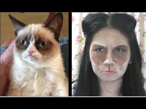 Grumpy Cat- Very Easy and Quick Look for Halloween!
