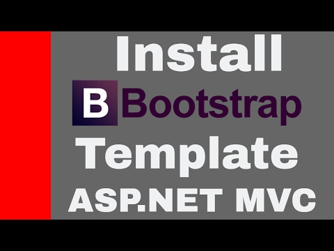 Install ASP.NET MVC Bootstrap Templates
