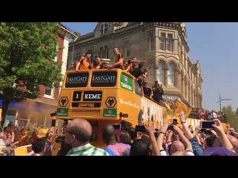 Wolves promotion party: Open-top buses in Wolverhampton city centre