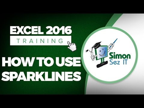How to Use Sparklines Chart in Microsoft Excel 2016