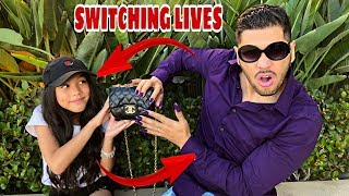Dad Swaps Lives With Daughter For A Day!! | Familia Diamond