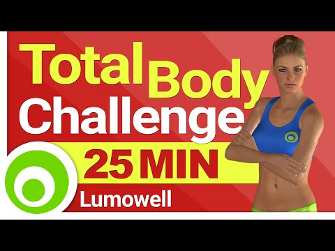 Full Body Challenge Workout to Burn 350 Calories in 25 Minutes