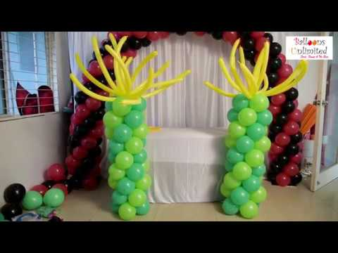 How to Make Balloon Columns without using Stand,Bases, Pole