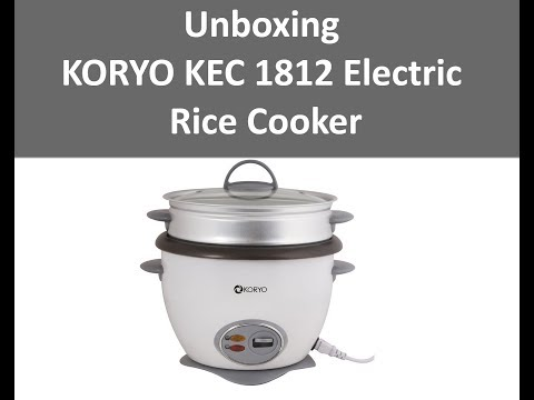 Unboxing KORYO KEC 1812 Electric Rice Cooker with Steamer