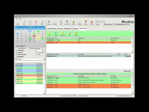 Short introduction - The Ents Booking System 4.1, DJ and Event Planning Software