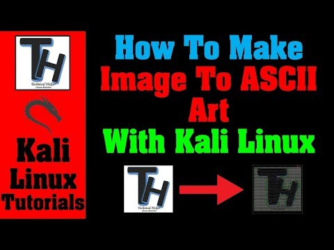 [ Hindi ] How To Make Image or photo To ASCII Art With Kali Linux || Convert Image into Text 🙂✅✔