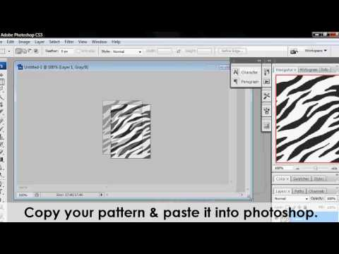 How to make & use patterns in photoshop