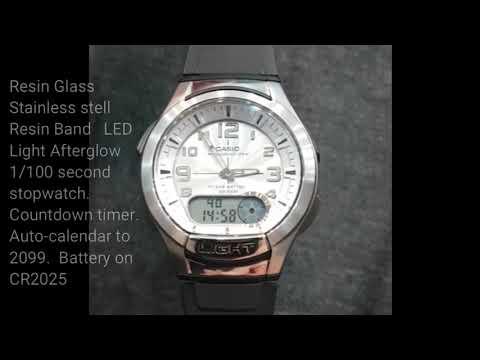 Casio Illuminator AQ-180W-7BVDF and how to adjust