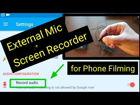 How to Record Audio using an External Microphone with a Screen Recorder on Your Phone