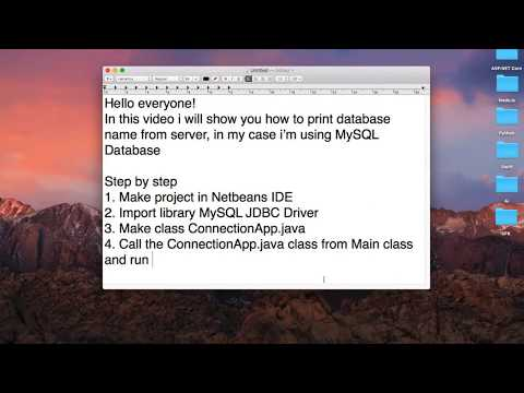 How to Get Database Name From Server Using Java - MySql