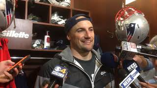 Rex Burkhead says he has never played in a game with so much fog