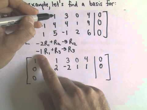 Procedure to Find a Basis for a Set of Vectors