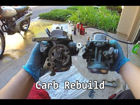 1975 Honda CL360 Part 5 - CARB REBUILD and cleaning