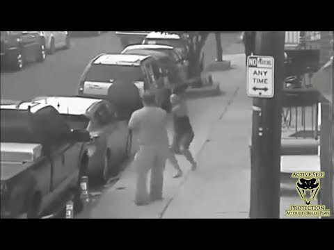 CCTV Shows Big Dude Handle Bat Wielding Neighbor Like a Boss | Active Self Protection