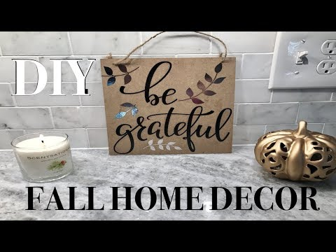 DOLLAR TREE DIY | FALL HOME DECOR SIGN