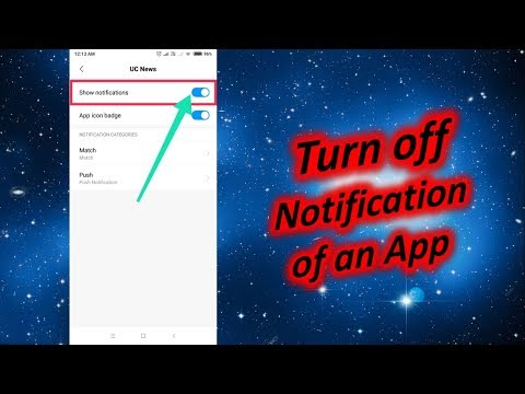 How to Turn off Notification of an App in Android