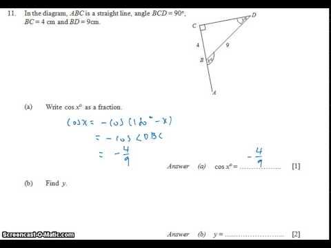 GCE NA Level 2010 P1 Q11