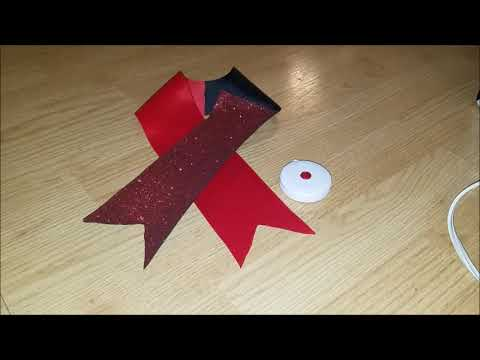 Glitter Tick-Tock Cheer Bow