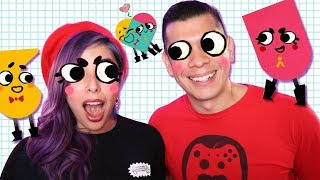 DISTRACTIONS & WEIRD WAVE DANCE - Snipperclips Plus Ep.8