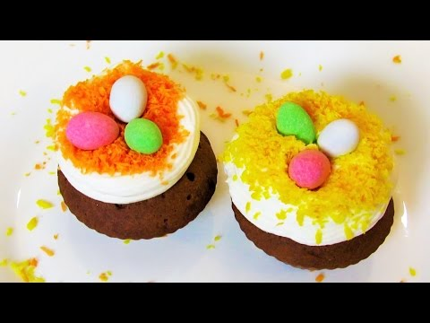 How To Make Easy Chocolate Cupcakes - Spring Idea  - Quick & Simple Recipe - Tutorial For Beginners