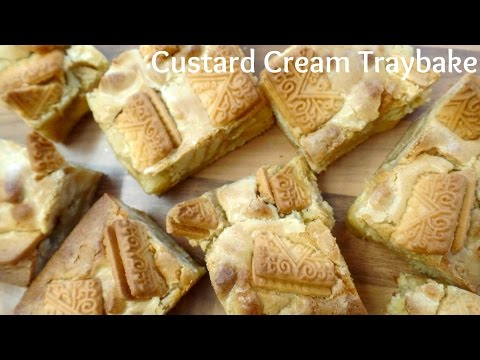 How To Bake Custard Cream Traybake