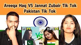 Indian Reaction on Areeka Haq vs Jannat Zubair Tik Tok   India vs Pakistan Tik Tok   Swaggy d
