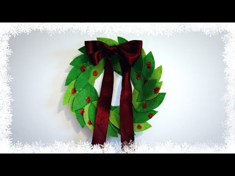 DIY wall decoration : How to make wreath from paper plate and felt | Easy room decor |  Maison Zizou