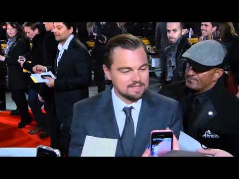 Leonardo DiCaprio attends the UK Premiere of The Wolf Of Wall Street red carpet