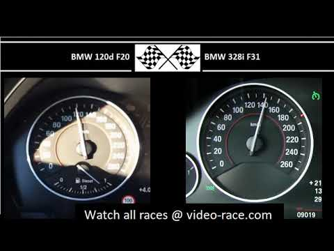 BMW 120d F20 VS. BMW 328i F31 - Acceleration 0-100km/h