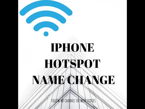 Iphone trick- hotspot name change