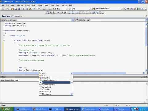 http://www.bestwebsitesdesigner.com/ tutorial Split String in C#.wmv