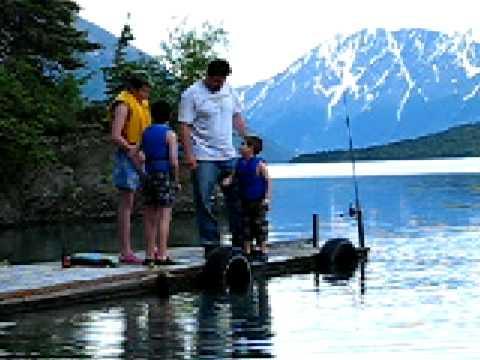 Swim Alaska's glacial Kenai Lake!