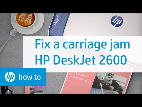 How To Fix a Carriage Jam on the HP DeskJet 2600 All-in-One Printer Series