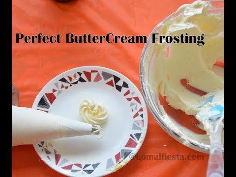 How to make perfect buttercream icing || Buttercream frosting for cakes and cupcakes