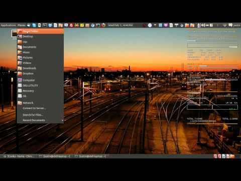 How To install a system monitor dashboard on linux (conky!)