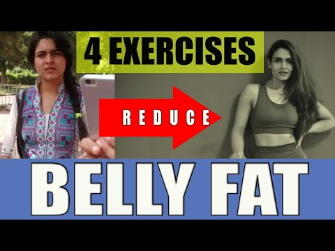 4 Best Exercises for FLAT stomach (Hindi)\\पेट कम करने की Simple Exercise\\Complete Stomach Workout