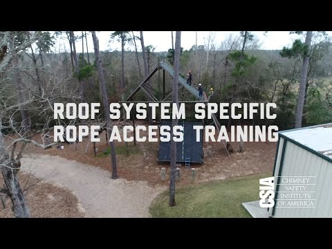 CSIA's Roof System Specific Rope Access Training