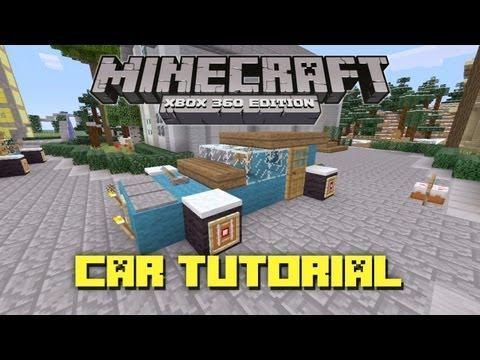 Minecraft Xbox 360: How to Build a Car! (Car Tutorial)
